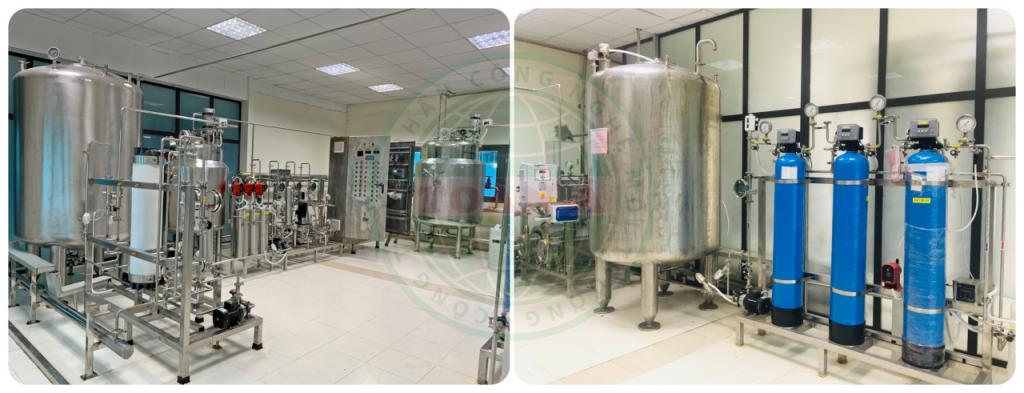quy trình hoạt động của hệ thống lọc nước đóng chai